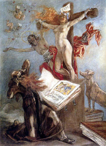 Félicien Joseph Victor Rops - The temptation of the St  Anthony