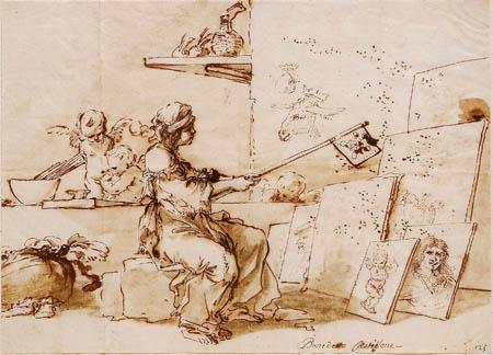 Salvator(e) Rosa - Allégorie de la peinture