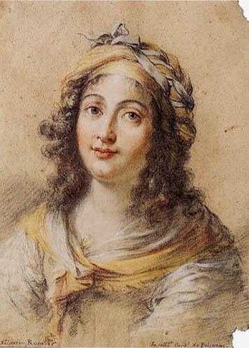 Salvator(e) Rosa - Brustbild einer jungen Frau