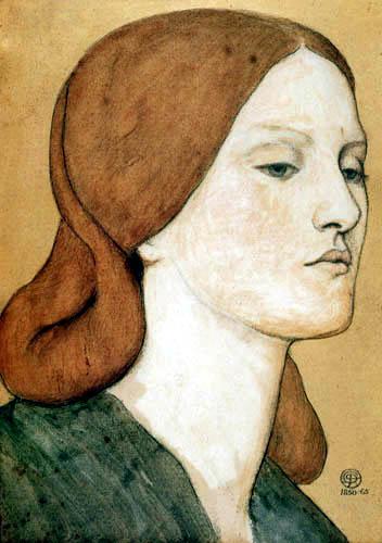 Dante Gabriel Rossetti - Porträt  Elizabeth Siddall