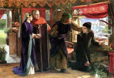 Dante Gabriel Rossetti - Erster Jahrestag von Beatrices Tod