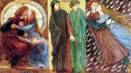 Dante Gabriel Rossetti - Paolo und Francesca da Rimini