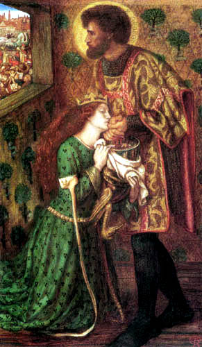 Dante Gabriel Rossetti - Der hl. Georg und die Prinzessin Sabra