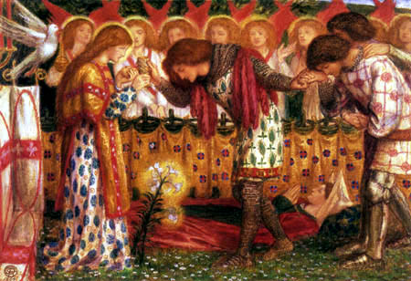 Dante Gabriel Rossetti - Der Tod der Schwester Sir Percivals