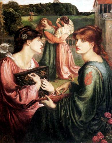 Dante Gabriel Rossetti - Tanzende und musizierende Mädchen