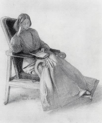 Dante Gabriel Rossetti - Elizabeth Siddal, lesend