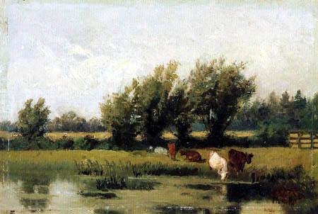 Philipp Röth - Drove at a river landscape