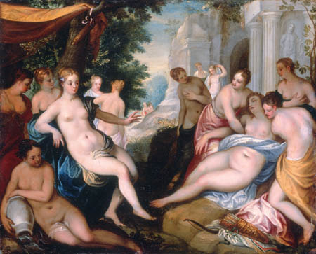 Hans Rottenhammer - Diana and Callisto with Nymphs