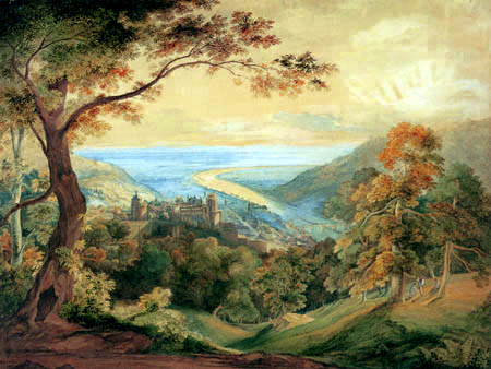 Carl Anton J. Rottmann - Blick auf das Heidelberger Schloß