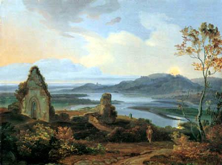 Carl Anton J. Rottmann - Ruins of a chapel