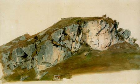 Carl Anton J. Rottmann - Rocky landscape near Oberaudorf