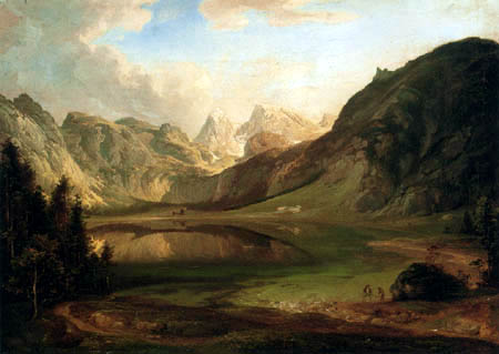 Carl Anton J. Rottmann - Obersee with Watzmann