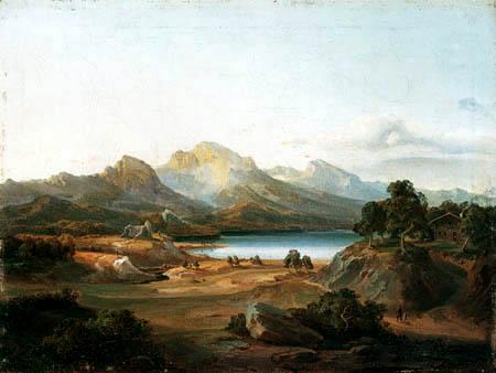 Carl Anton J. Rottmann - Mountain landscape