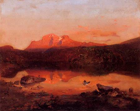 Carl Anton J. Rottmann - Hoher Göll in sunset