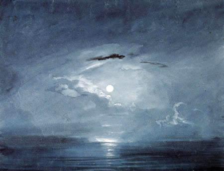 Carl Anton J. Rottmann - Moonlight study