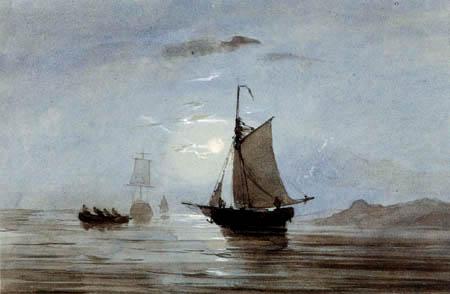 Carl Anton J. Rottmann - Fishing boats