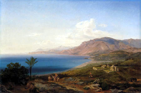 Carl Anton J. Rottmann - The bay of Genua