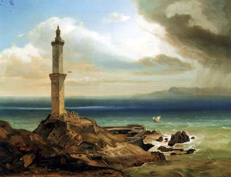 Carl Anton J. Rottmann - The Lighthouse of Genua