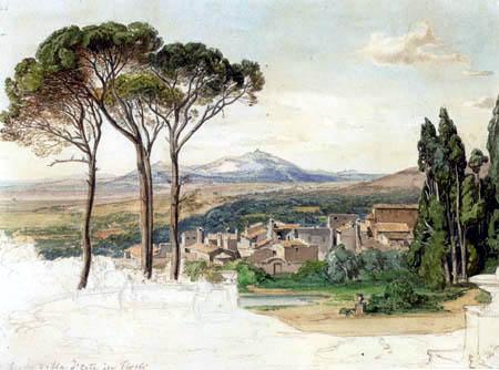 Carl Anton J. Rottmann - Tivoli- Blick aus der Villa d´Este