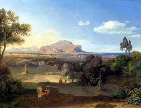 Carl Anton J. Rottmann - View of Palermo