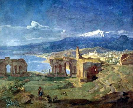 Carl Anton J. Rottmann - Taormina- Theaterruine