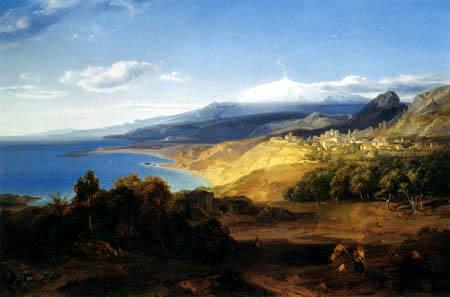 Carl Anton J. Rottmann - Taormina and Mount Etna