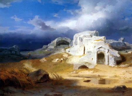 Carl Anton J. Rottmann - Syrakus- Archimedes Grabmal