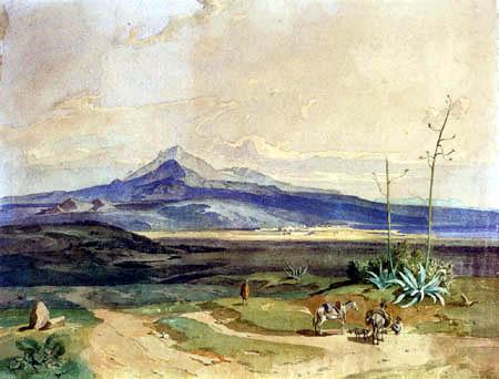 Carl Anton J. Rottmann - Mount Etna