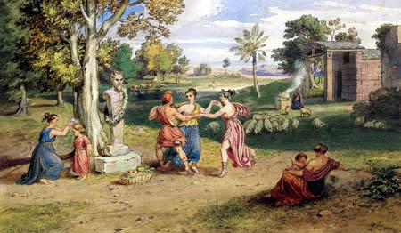Carl Anton J. Rottmann - Celebration of Pan