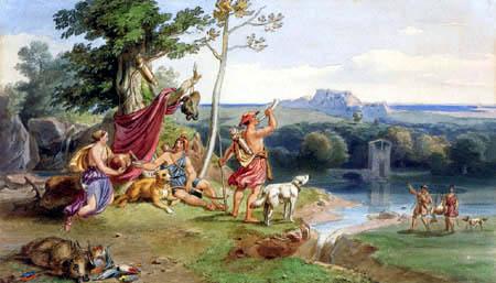 Carl Anton J. Rottmann - Hunters de antiquity