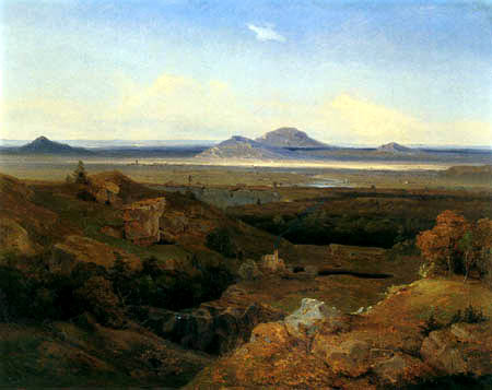Carl Anton J. Rottmann - Greek landscape