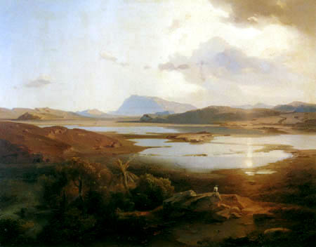 Carl Anton J. Rottmann - The Lake Copais with the Mount Parnassus