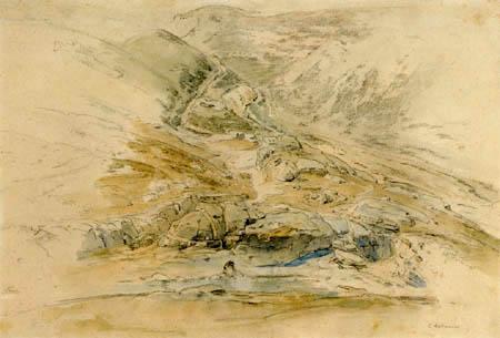 Carl Anton J. Rottmann - Geröllhalde bei Naxos