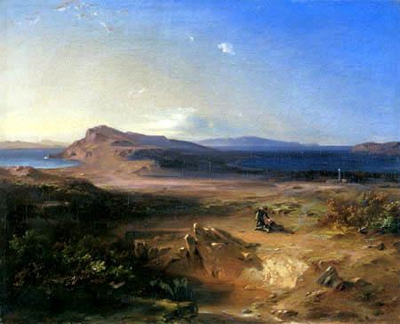 Carl Anton J. Rottmann - Landscape near Delos
