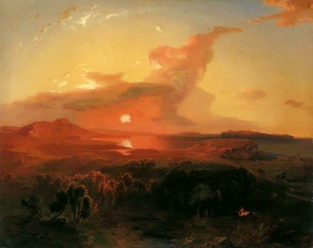 Carl Anton J. Rottmann - Sunset, Epidauros