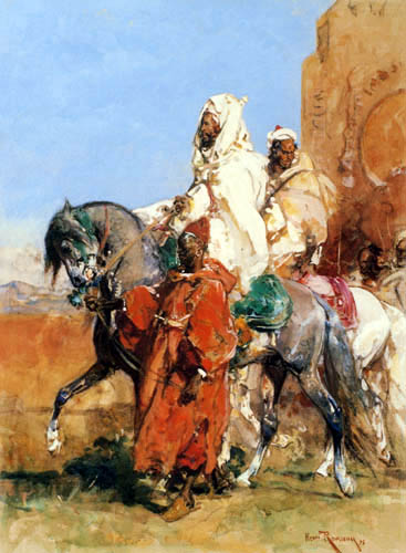 Henri Emilien Rousseau - Conducir al jeque