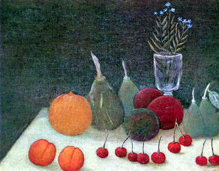 Henri Julien Félix Rousseau - Still Life with forget-me-not