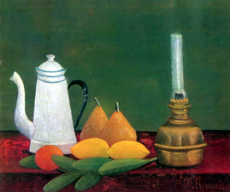 Henri Julien Félix Rousseau - Stillleben mit Lampe und Kanne
