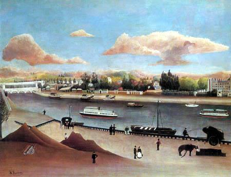Henri Julien Félix Rousseau - Der Viadukt von Auteuil