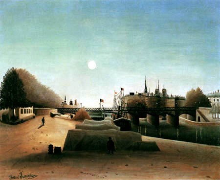 Henri Julien Félix Rousseau - View of the island St. Louis