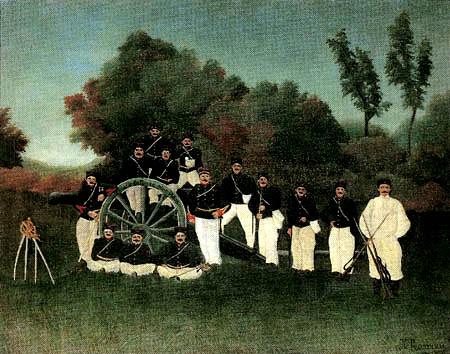 Henri Julien Félix Rousseau - Artillery soldiers
