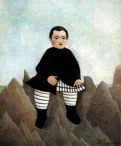 Henri Julien Félix Rousseau - Junge auf einem Felsen