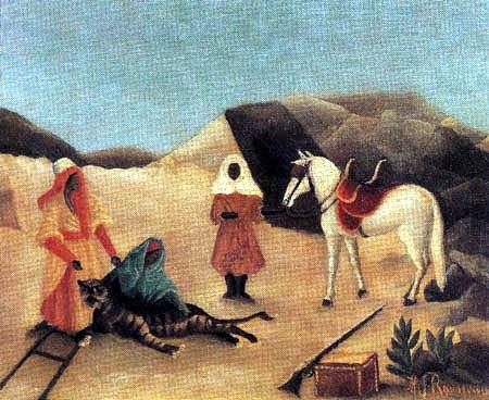 Henri Julien Félix Rousseau - Tiger hunt