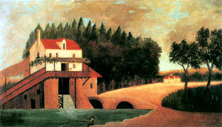 Henri Julien Félix Rousseau - The water mill