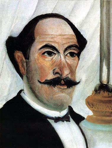 Henri Julien Félix Rousseau - Selfportrait with a lamp