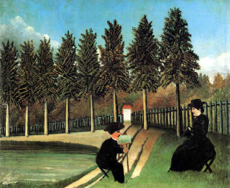 Henri Julien Félix Rousseau - The artist paints his wife