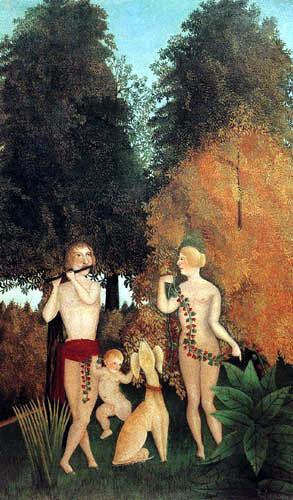 Henri Julien Félix Rousseau - Das glückliche Quartett
