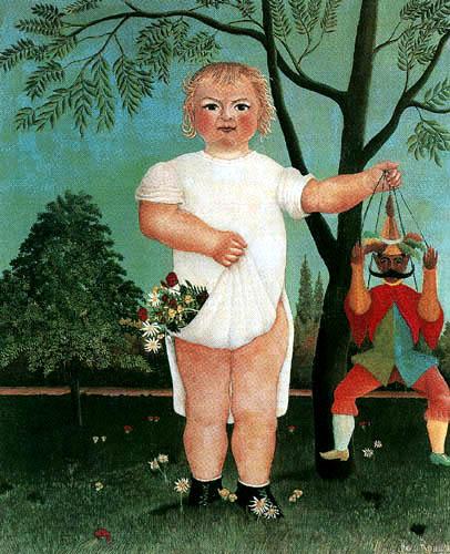 Henri Julien Félix Rousseau - Kind mit Kasperle
