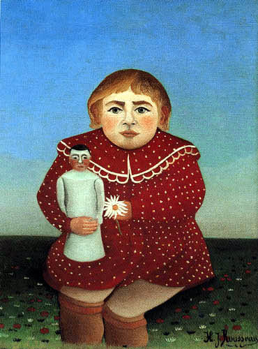 Henri Julien Félix Rousseau - Mädchen mit Puppe