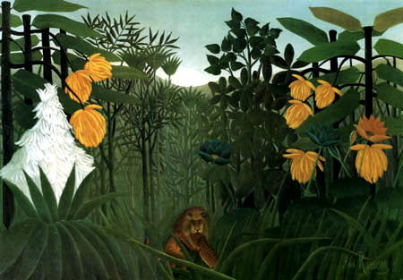 Henri Julien Félix Rousseau - The Meal of the Lion